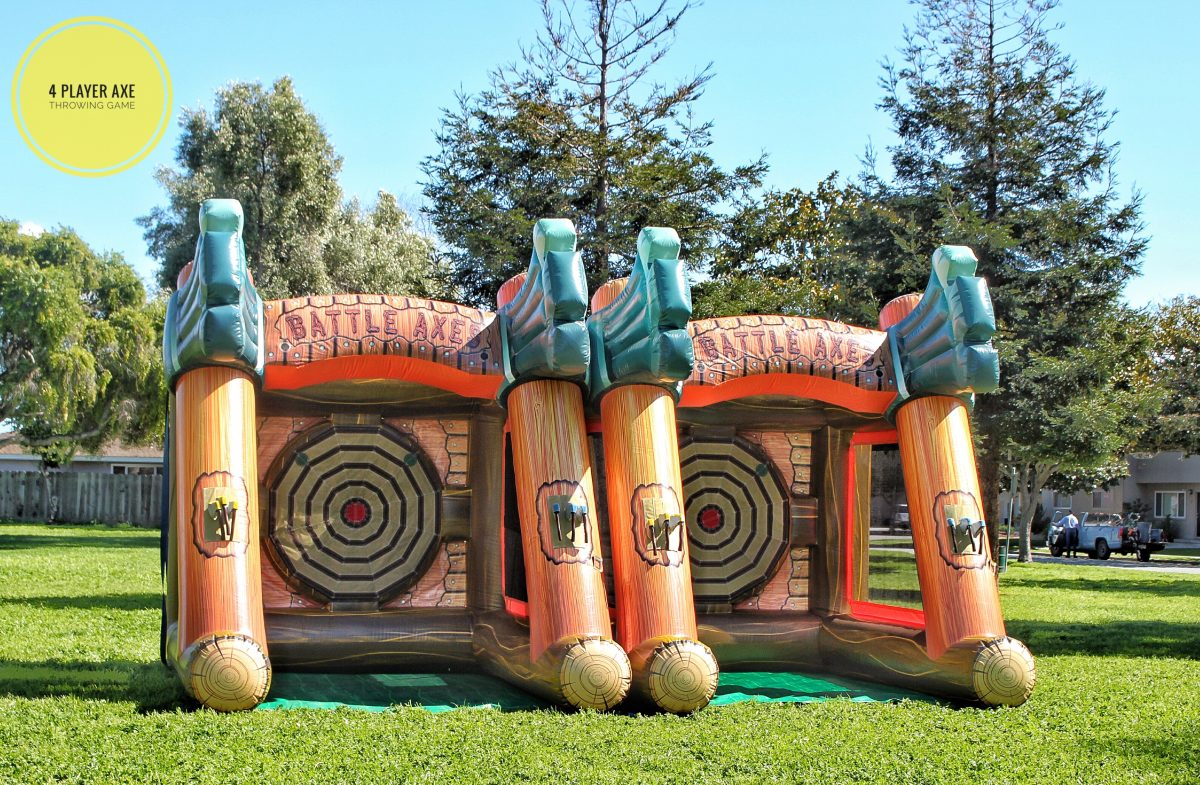 Axe Throwing Game Rental San Francisco Bay Area Inflatables