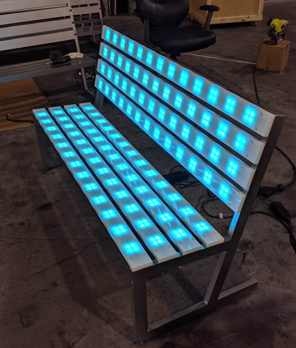 Rent In San Francisco Bay Area: LED Lighted Park Benches / Led Lighted Game And Furniture