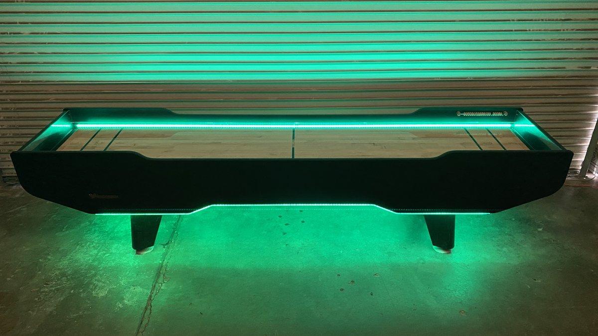 Glowing Led Shuffle Board Table Rental