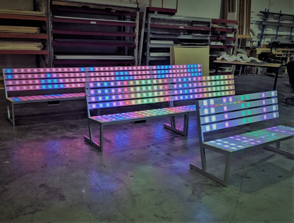 Led Drive In Movie Night Park Bench Rentals
