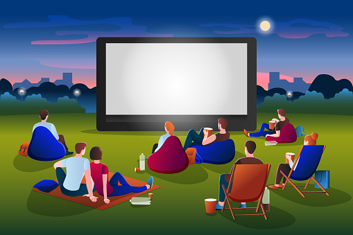 Outdoor Drive In Movie Night Rental