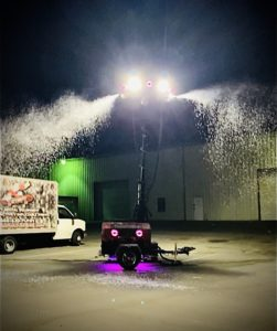 Deluxe Snow Machine Music Tower Rental